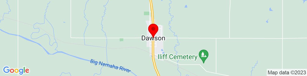 Google Map of 40.1311123, -95.8305486