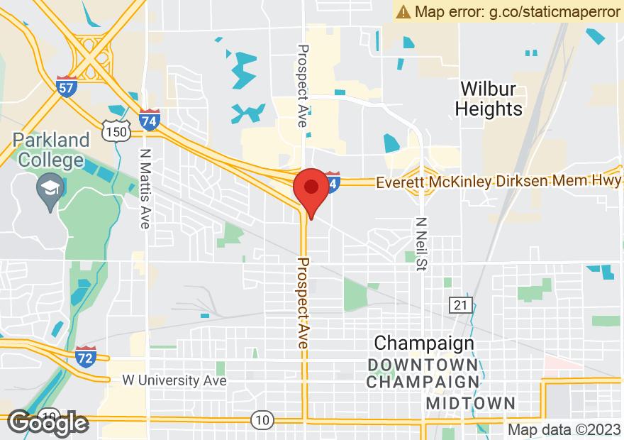 Google Map of 841 BLOOMINGTON RD
