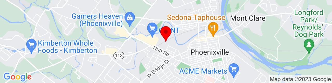 Google Map of 40.1330229, -75.5295285
