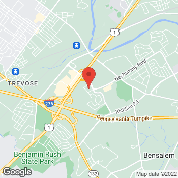 Map of Hair Cuttery at 450 Rock Hill Drive, Bensalem, PA 19020