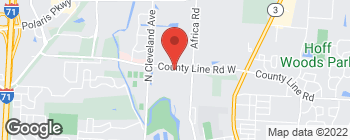 Map of 385 County Line Rd W in Westerville