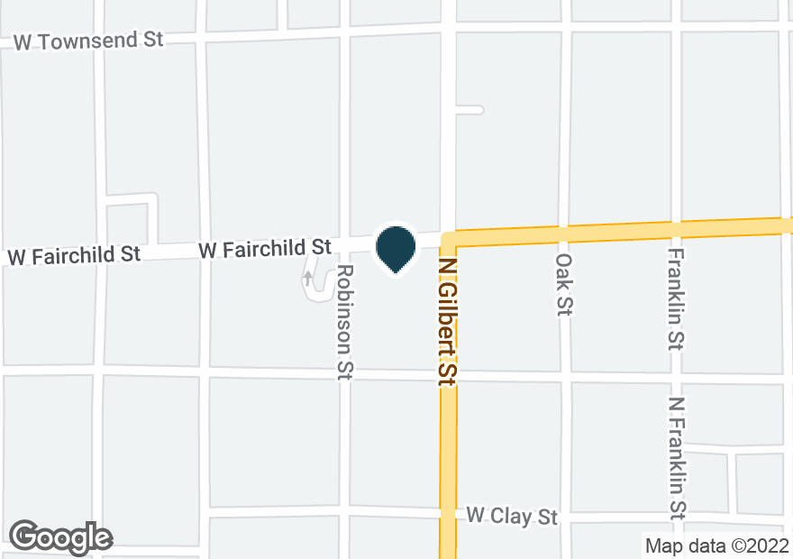 Google Map of400 W FAIRCHILD ST
