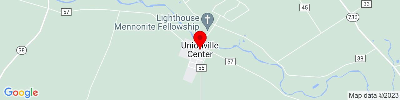 Google Map of 40.1383939, -83.3399191