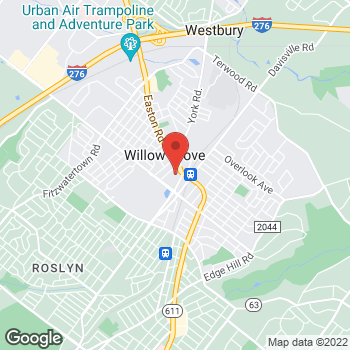 Map of Hair Cuttery at 142 Park Ave Space 18, Willow Grove, PA 19090