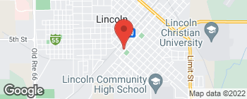 Map of 303 S Kickapoo St in Lincoln
