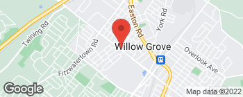 Mapa de 517 W Moreland Rd en Willow Grove