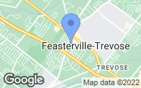 Map of Feasterville-Trevose, PA