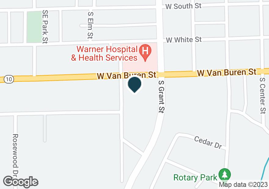 Google Map of424 W VAN BUREN ST