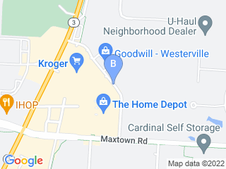 Map of The Canine Center Dog Boarding options in Westerville | Boarding