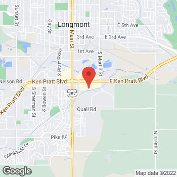 Map of Bed Bath & Beyond at 205 Ken Pratt Boulevard, Longmont, CO 80501