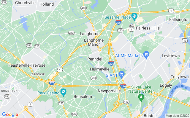 Penndel on the map