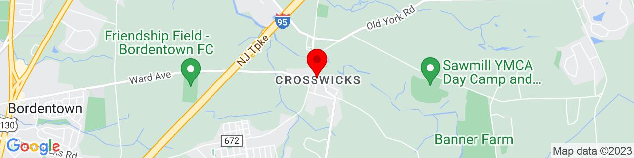 Google Map of 40.1534765, -74.64749640000001