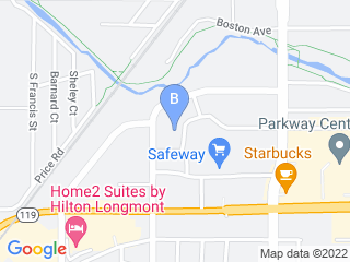 Map of Uptown Dog Dog Boarding options in Longmont | Boarding