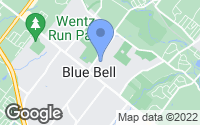 Map of Blue Bell, PA