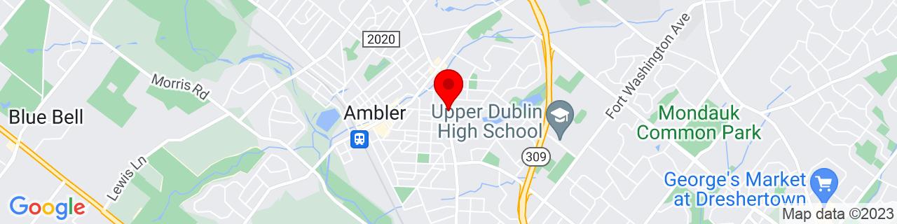 Google Map of 40.1554433, -75.2136337