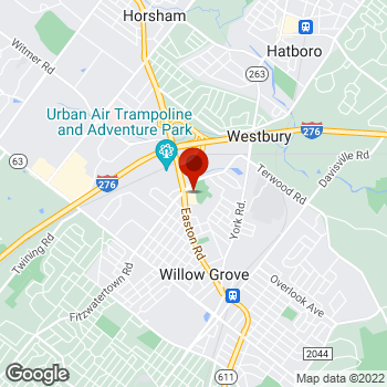 Map of Staples® Print & Marketing Services at 1025 N Easton Road, Willow Grove, PA 19090