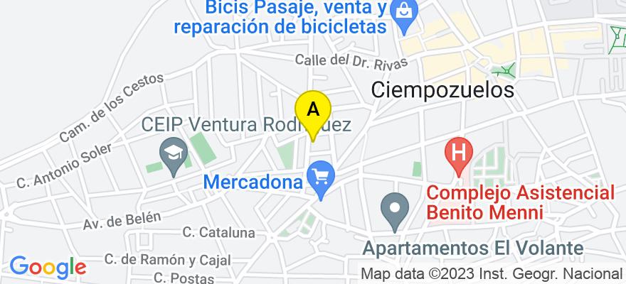 situacion en el mapa de . Direccion: CALLE DE LAS ESTRELLAS 2C 1D, 28350 Ciempozuelos. Madrid
