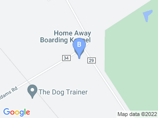 Map of Home Away Boarding Kennel Dog Boarding options in Plain City | Boarding