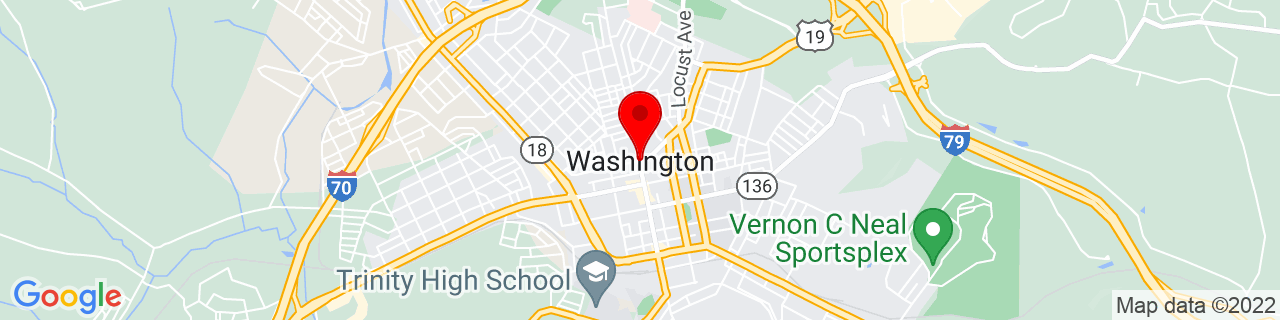 Google Map of 40.17396, -80.2461714