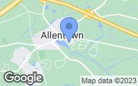Map of Allentown, NJ