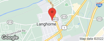 Map of 118 E Maple Ave in Langhorne