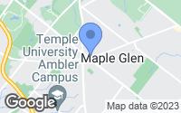 Map of Maple Glen, PA