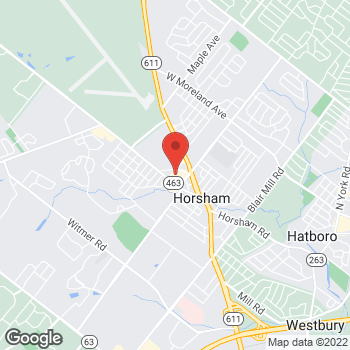 Map of Hair Cuttery at 314 Horsham Rd Ste H, Horsham, PA 19044