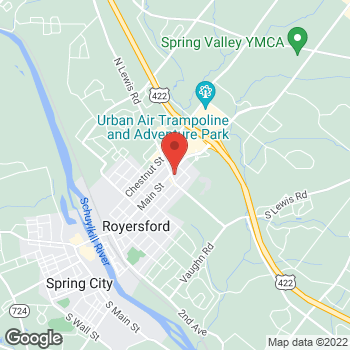 Map of Rite Aid at 820 Main Street, Royersford, PA 19468