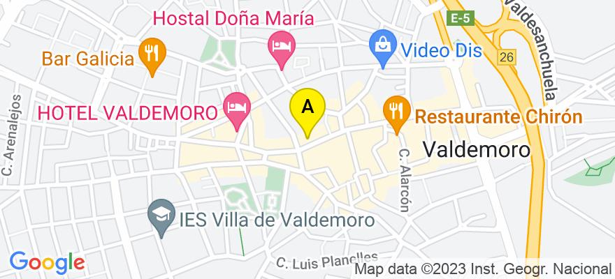 situacion en el mapa de . Direccion: Calle Estrella de Elola, 5, 1.B, 28341 Valdemoro. Madrid