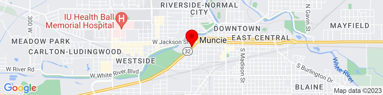 Google Map of 40.1917159, -85.3963187