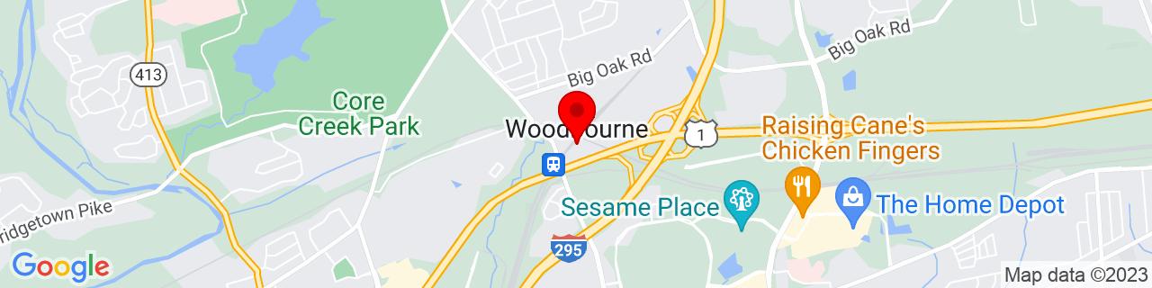 Google Map of 40.1923313, -74.88877649999999