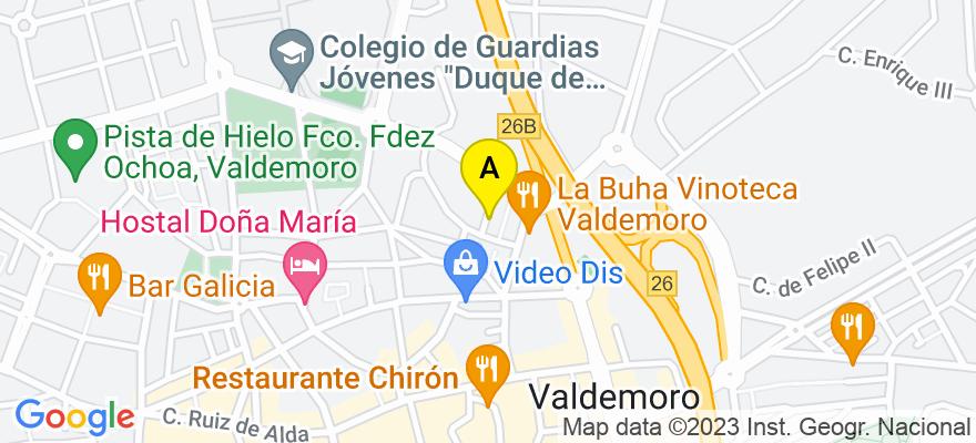 situacion en el mapa de . Direccion: C/ Doctor Mata, nº 2, 2º B, 28342 Valdemoro. Madrid