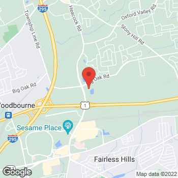 Map of Hair Cuttery at 1629 Big Oak Rd, Yardley, PA 19067