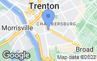 Map of Trenton, NJ