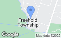 Map of Freehold, NJ