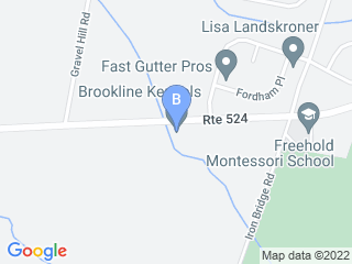Map of Brookline Kennels Dog Boarding options in Freehold | Boarding