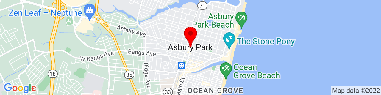 Google Map of 40.22027777777778, -74.01194444444444