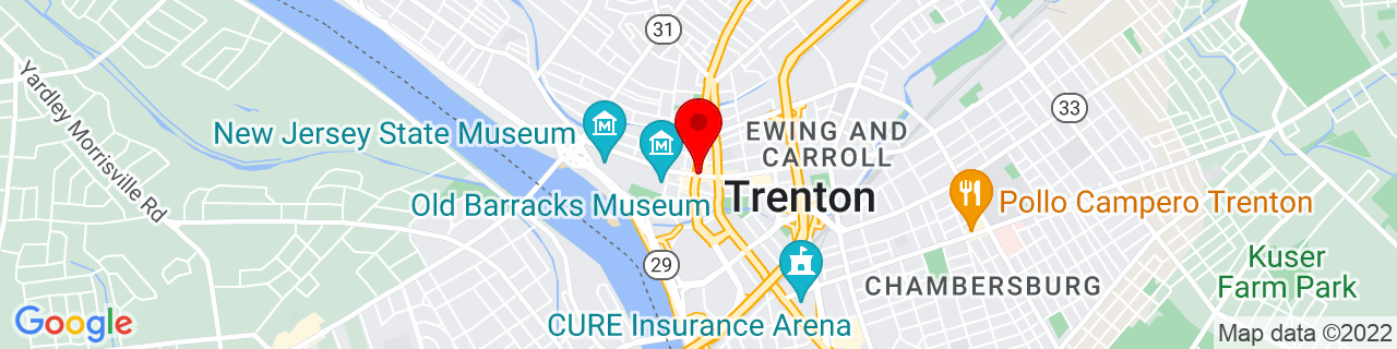 Google Map of 40.2202944, -74.765739