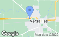 Map of Versailles, OH