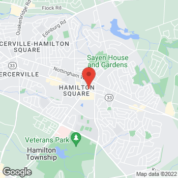 Map of Panera Bread at 1240 Route 33, Hamilton Township, New Jersey 08690