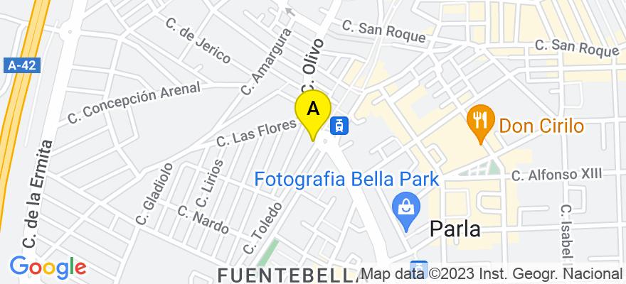 situacion en el mapa de . Direccion: Calle Del Olivo, 8, 28981 Parla. Madrid