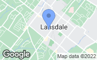 Map of Lansdale, PA