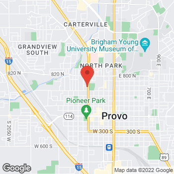 Map of Jessica Hunn, MD at 585 N 500 W, Provo, UT 84601