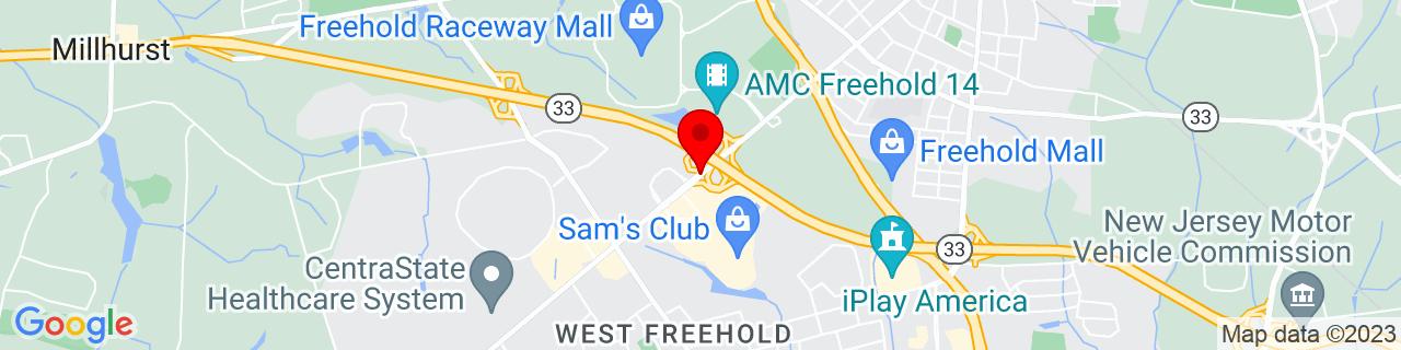 Google Map of 40.2461046, -74.2955393