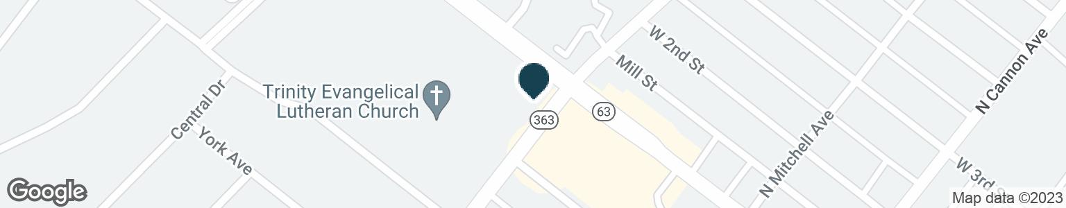 Google Map of890 W MAIN ST