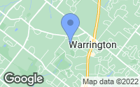 Map of Warrington, PA