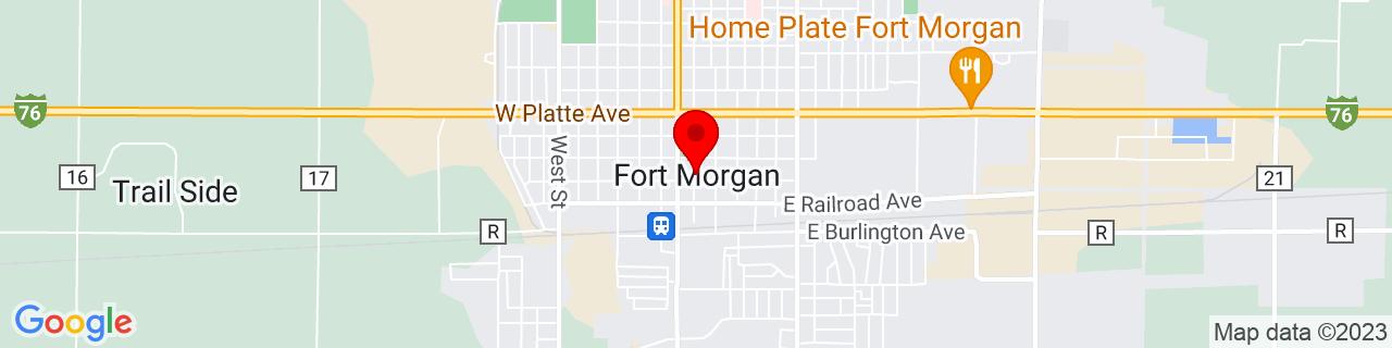 Google Map of 40.250277777777775, -103.8