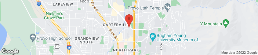 Map of 1680 N 200 W ST in PROVO
