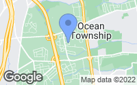 Map of Ocean Township, NJ