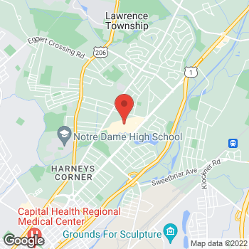 Map of Staples at 2495 Brunswick Pike, Lawrence, NJ 08648